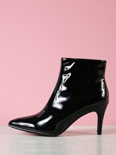 Pointy Toe Patent Bootie