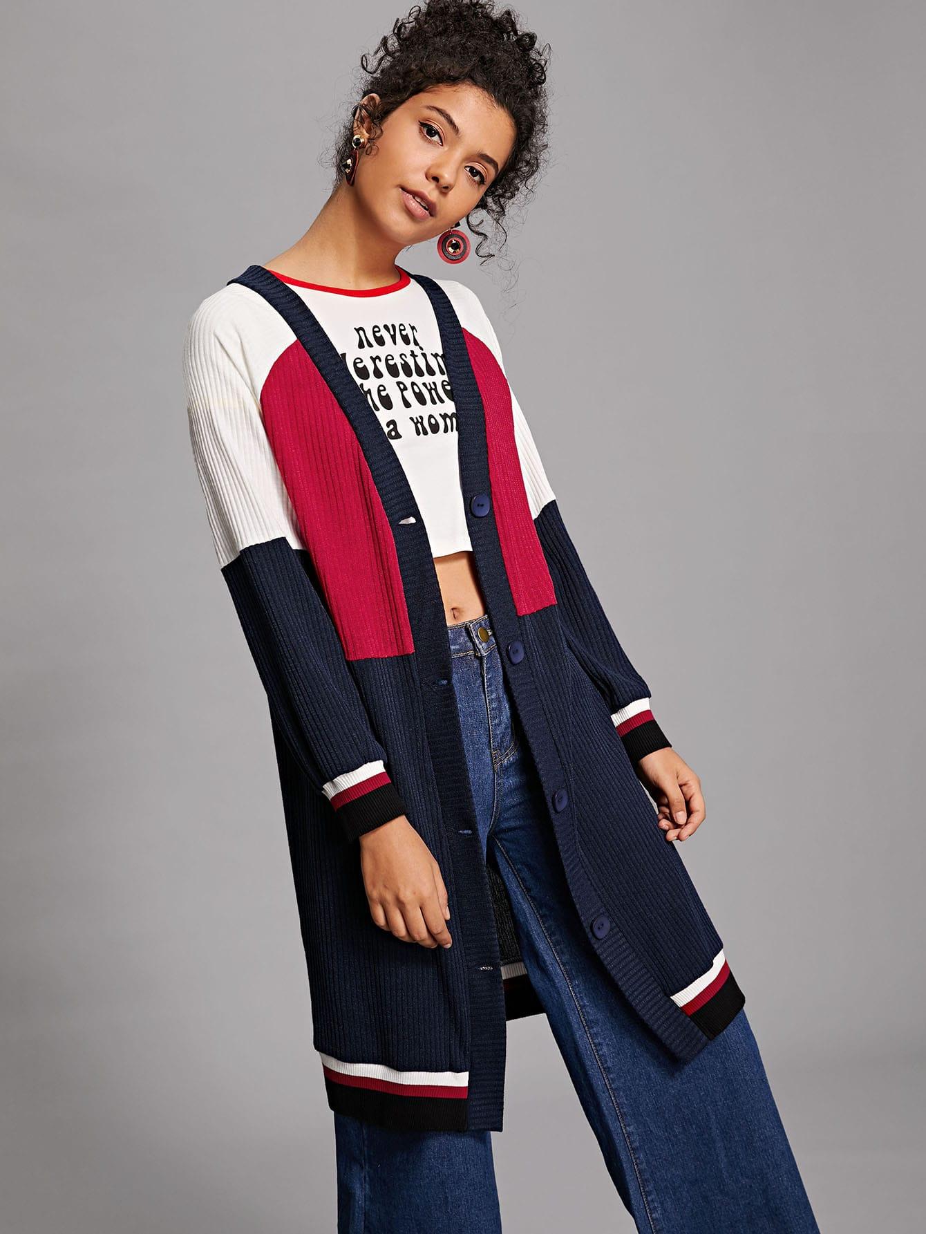 Купить Куртка в рубчик с рукавами реглан, Starl Lane, SheIn