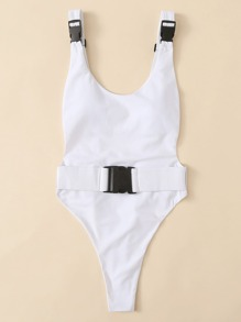 Low Back Plain Swimsuit