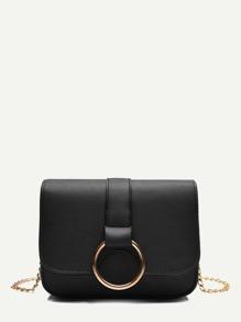 Metal Ring Detail Chain Bag
