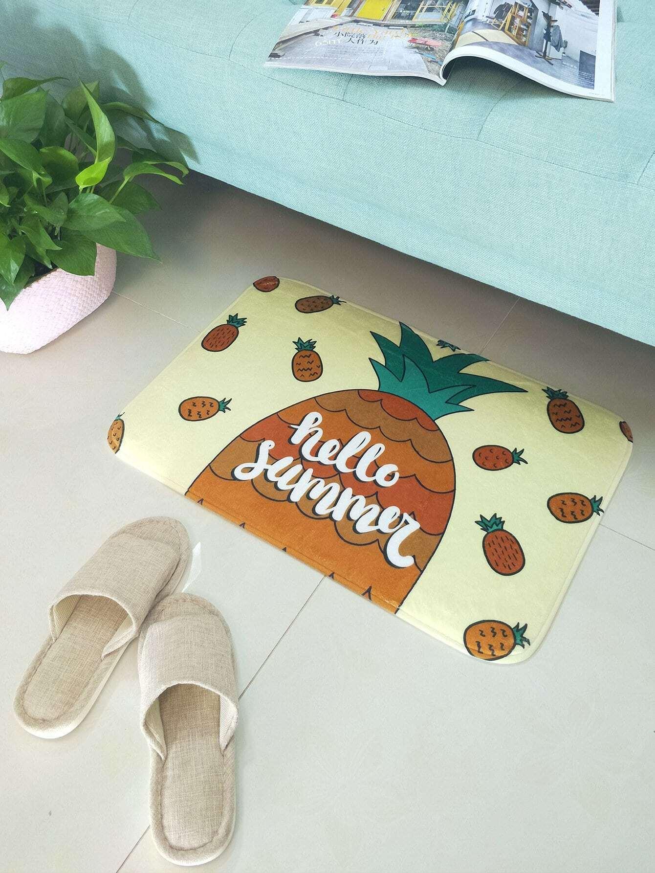 Pineapple Print Door Mat patchwork door mat