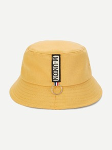 Patched Plain Bucket Hat