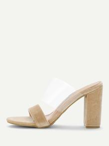 Clear Design Peep Toe Heels