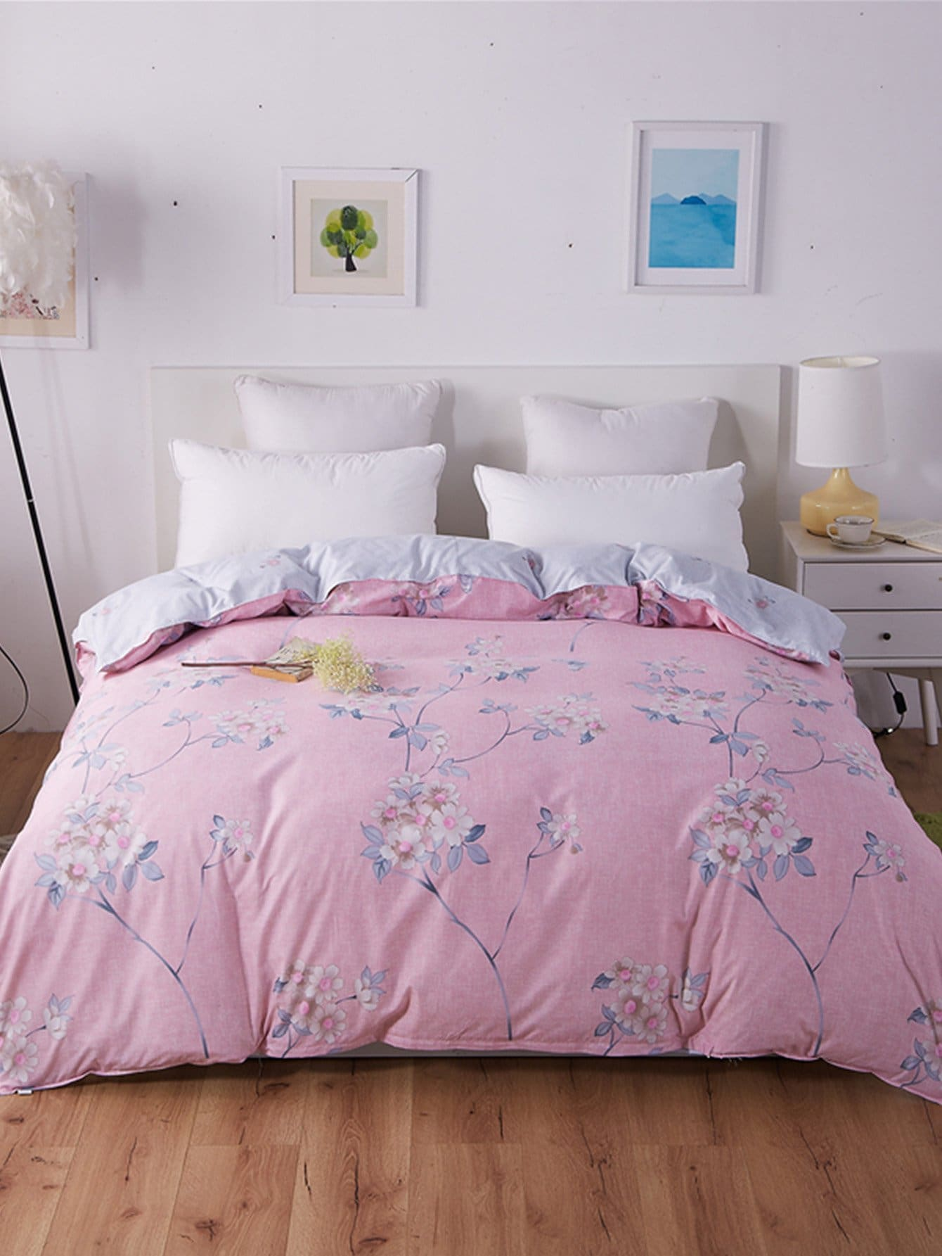 Flower Print Duvet Cover