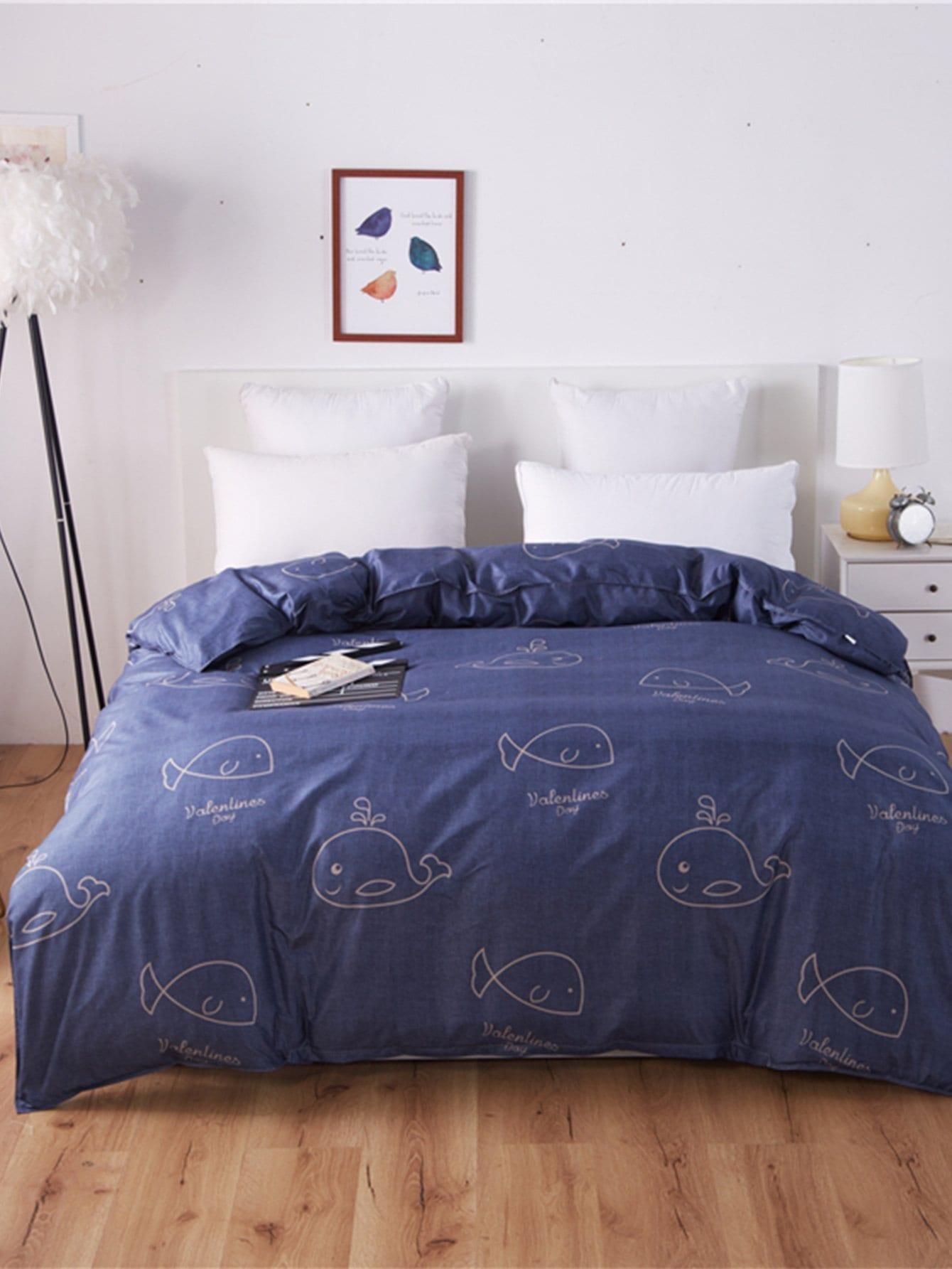 Whale Print Duvet Cover