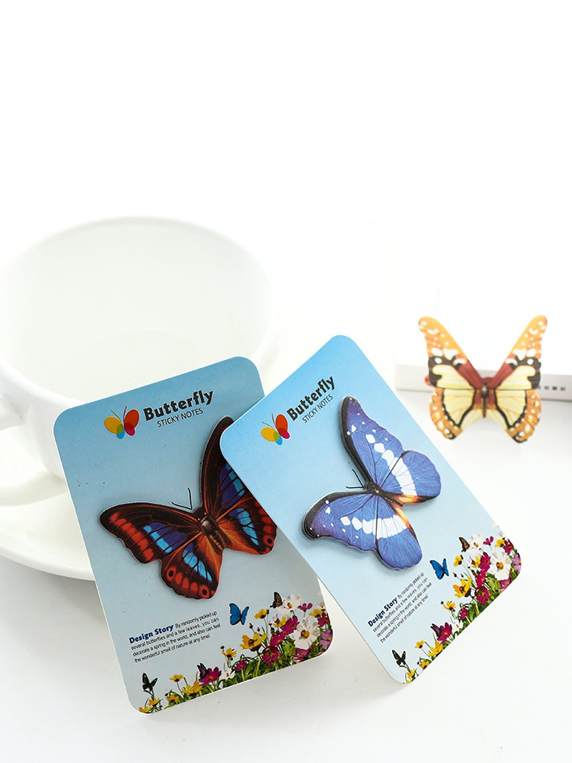 Random Butterfly Sticky Memo 15sheets