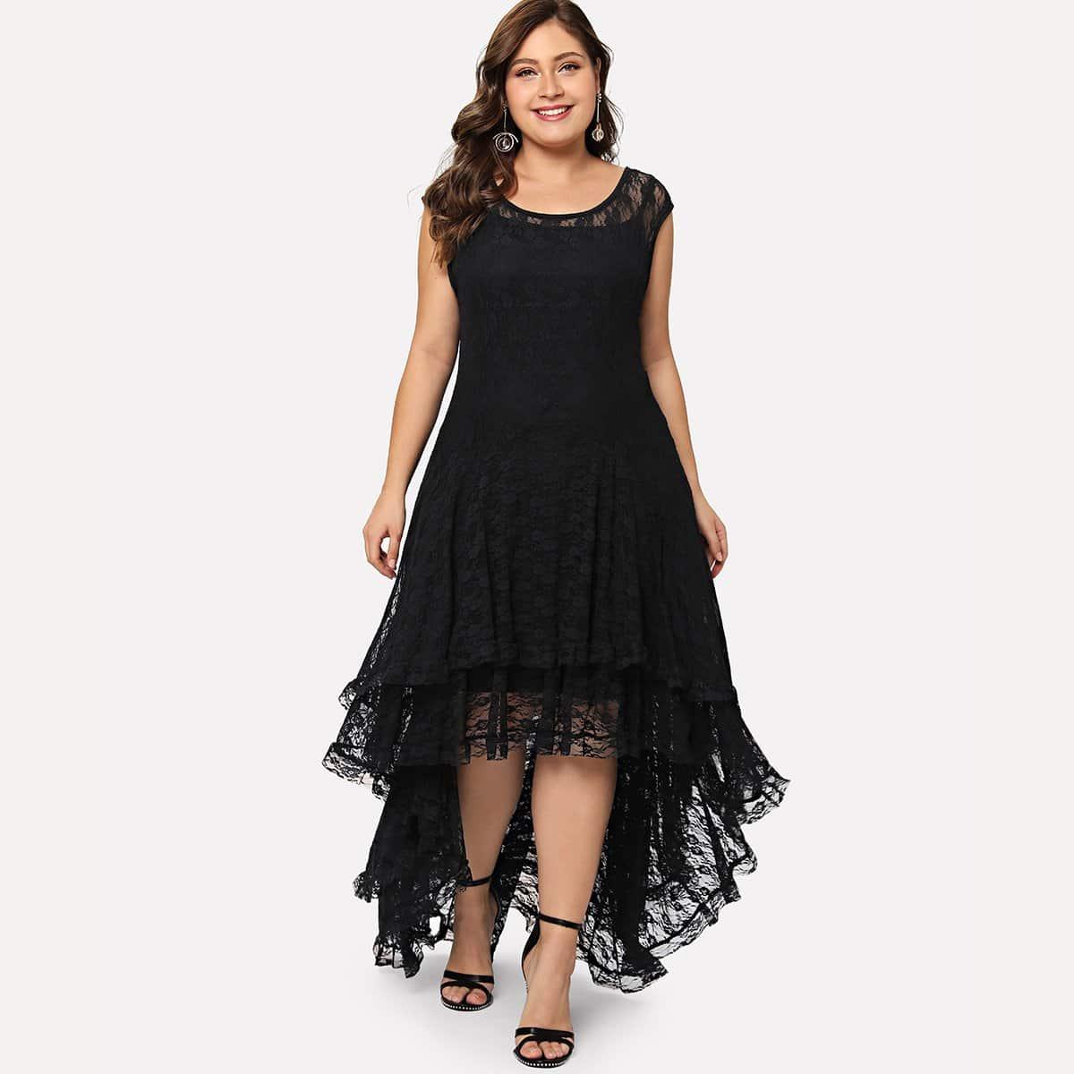 Meerlagige jurk met kant