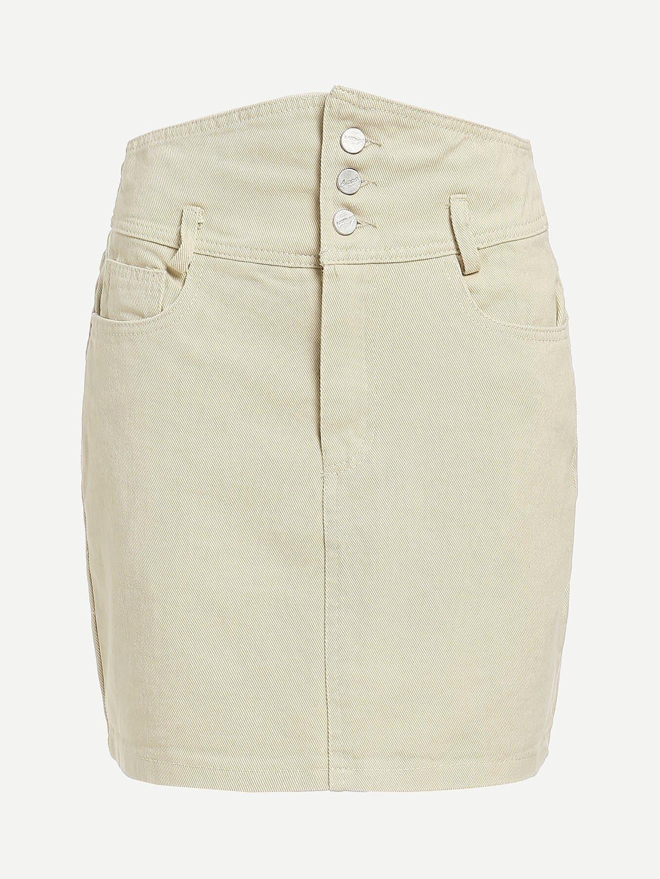 Button Front Denim Skirt button front denim suspender skirt