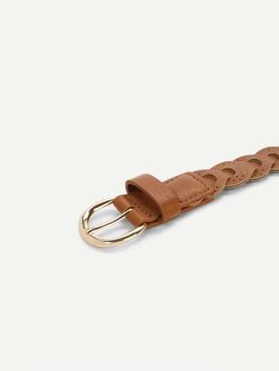 Woven Design PU Belt