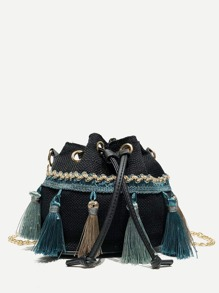 Tassel Detail Bucket Bag