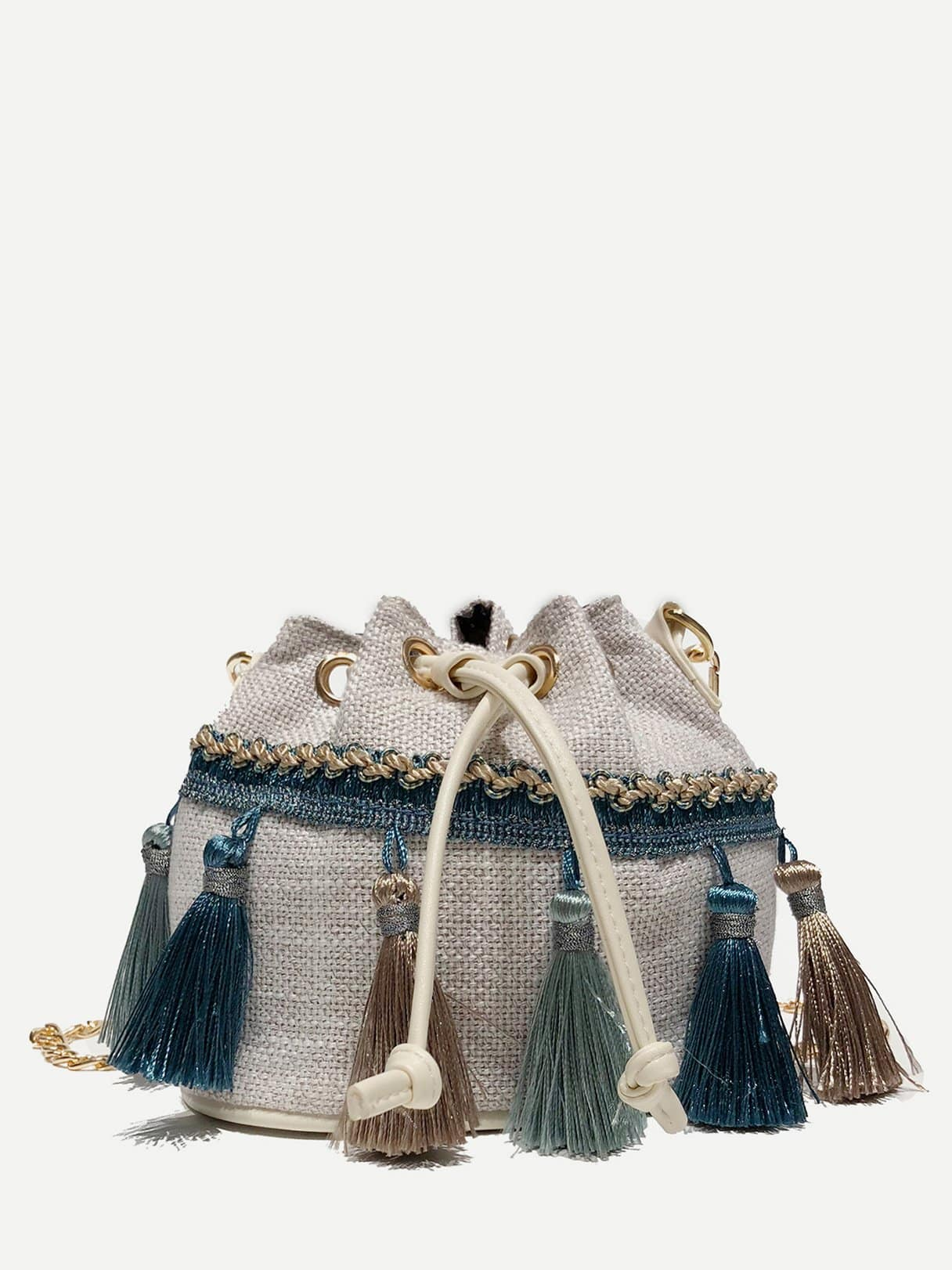 Tassel Detail Bucket Bag