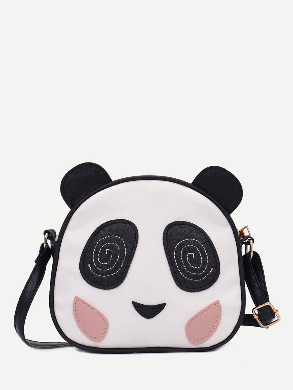 Panda Detail Crossbody Bag polygon detail star crossbody bag