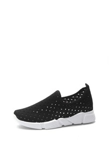 Hollow Out Slip On Sneakers