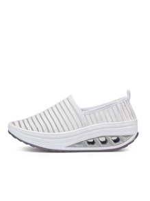 Mesh Panel Platform Sneakers