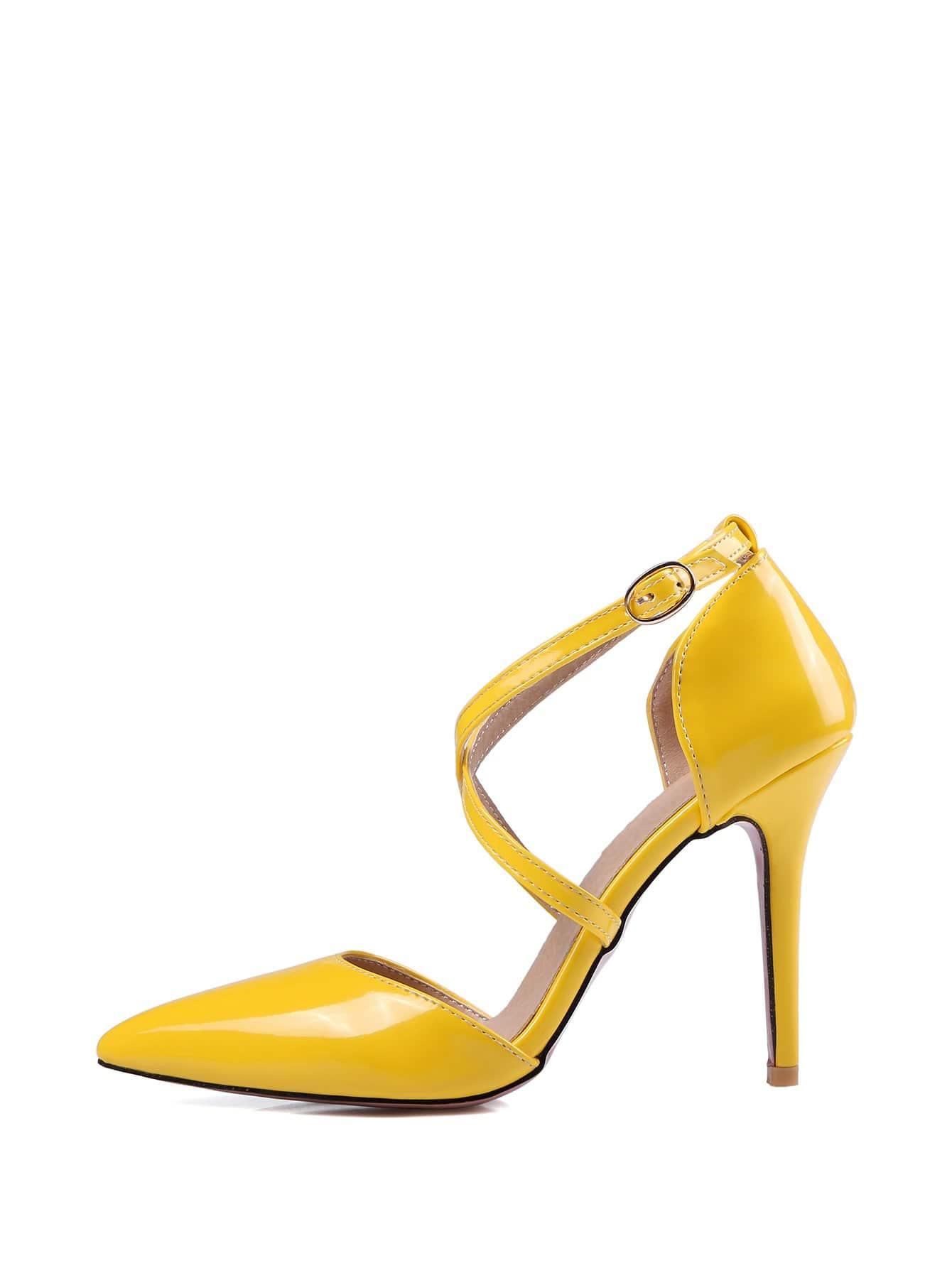 Criss Cross Stiletto Heels women s stylish stiletto heels w rivet party shoes black size 36