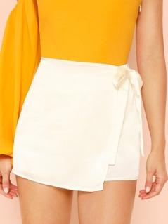 Satin Skirt Shorts