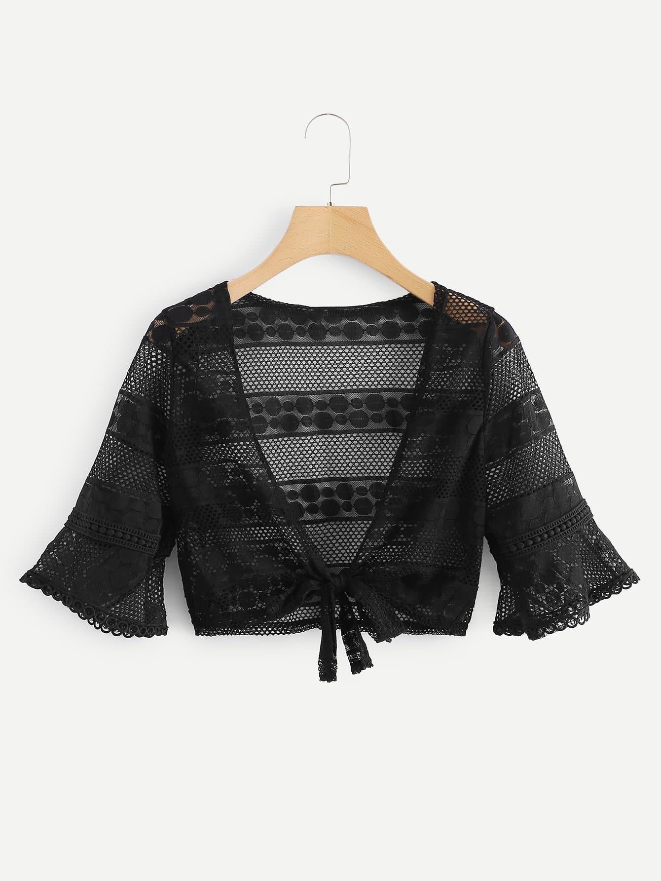Купить Кимоно для крученого рукава переднего кимоно, null, SheIn