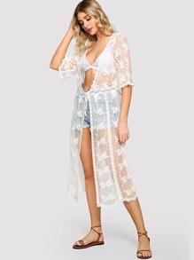 Lace Longline Kimono