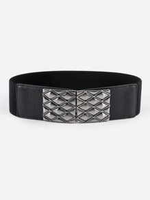 Quilted Buckle Belt