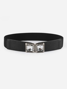 Rhinestone Decorated Buckle Belt