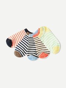 Striped Ankle Socks 5pairs