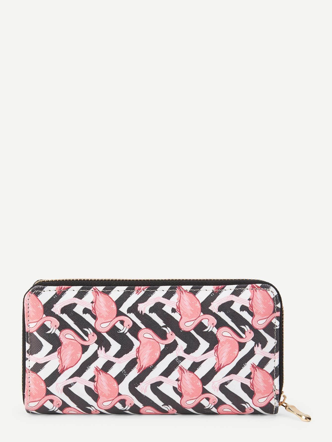 Flamingo Print PU Wallet все цены
