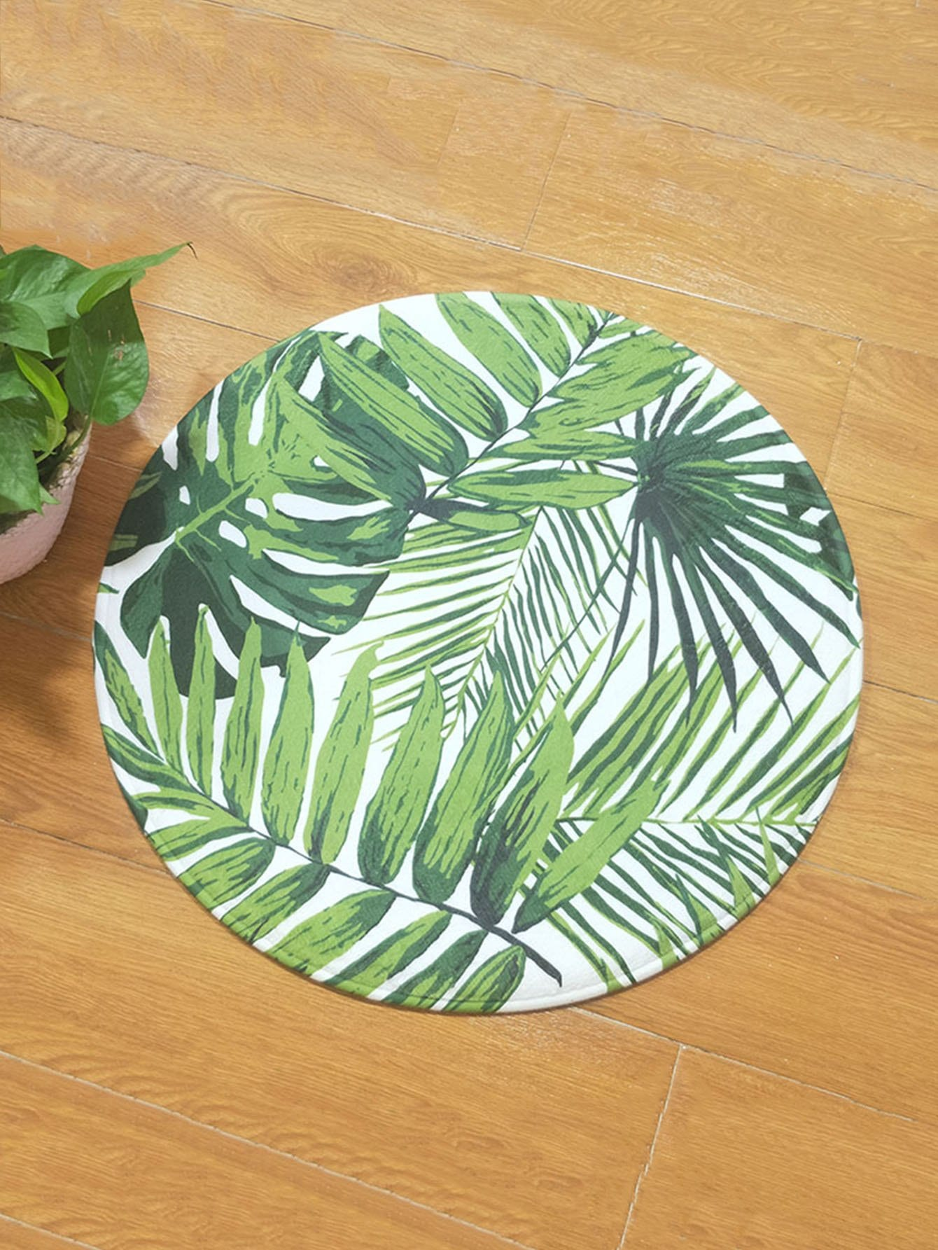 Купить Тропические листья накладывают круглый ковер, null, SheIn
