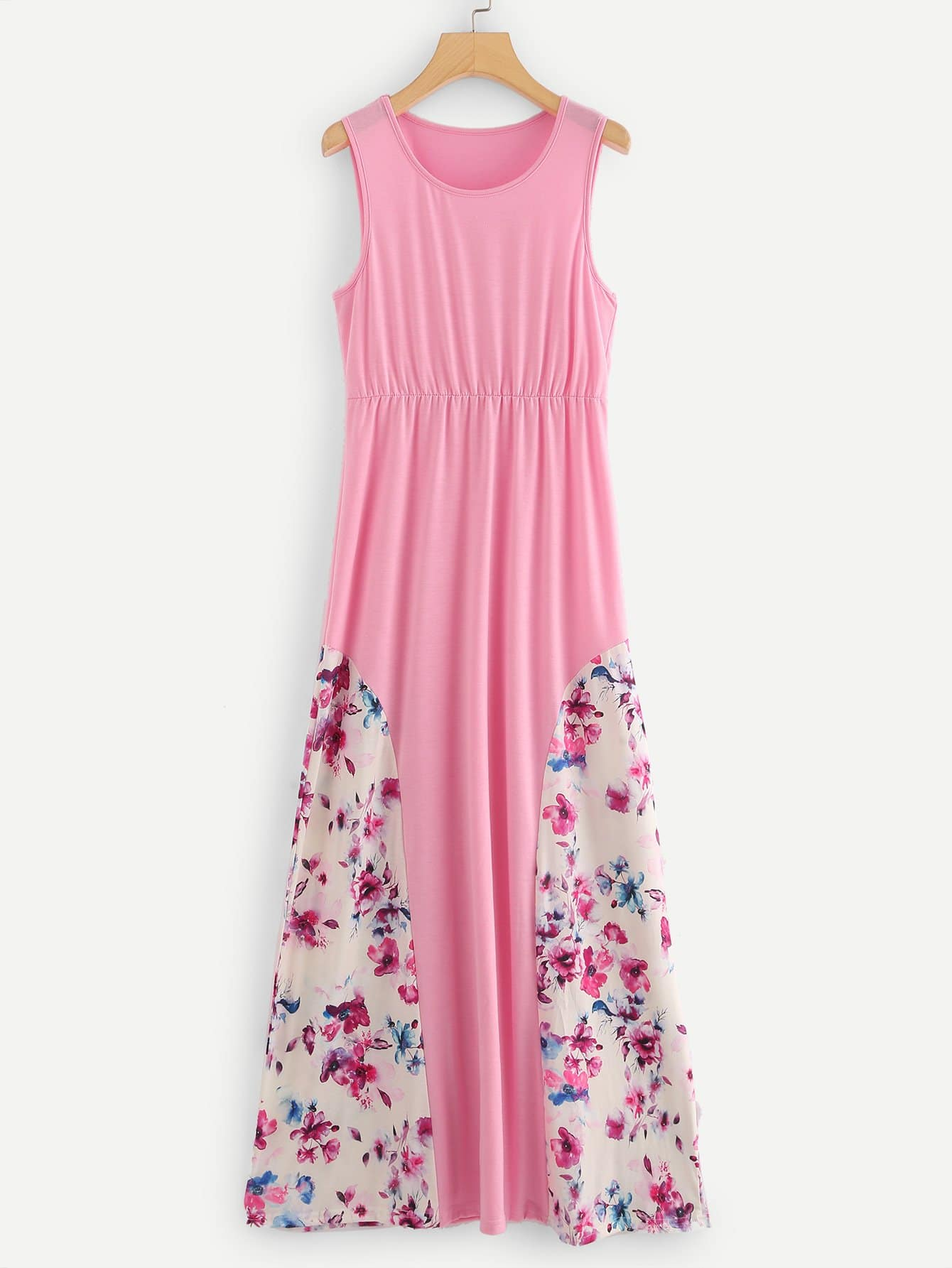 Calico Print Contrast Dress calico print tights