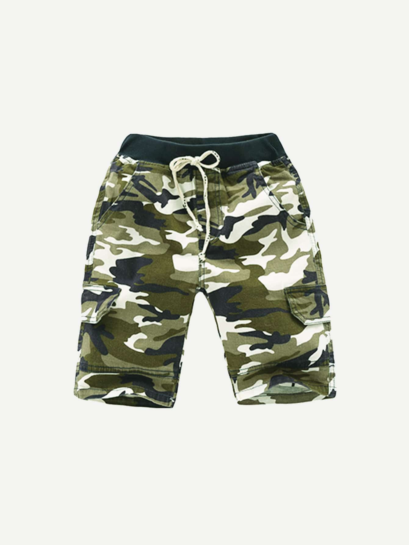 все цены на Boys Drawstring Camo Shorts