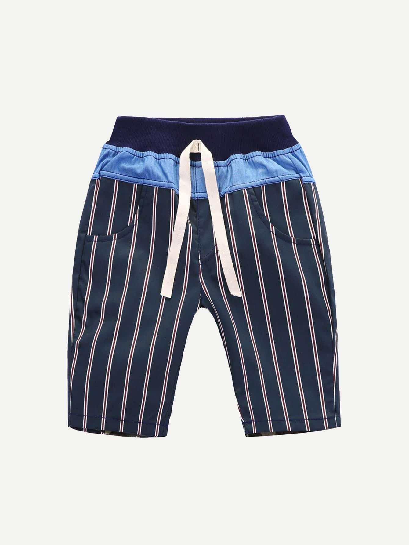 все цены на Boys Striped Drawstring Shorts