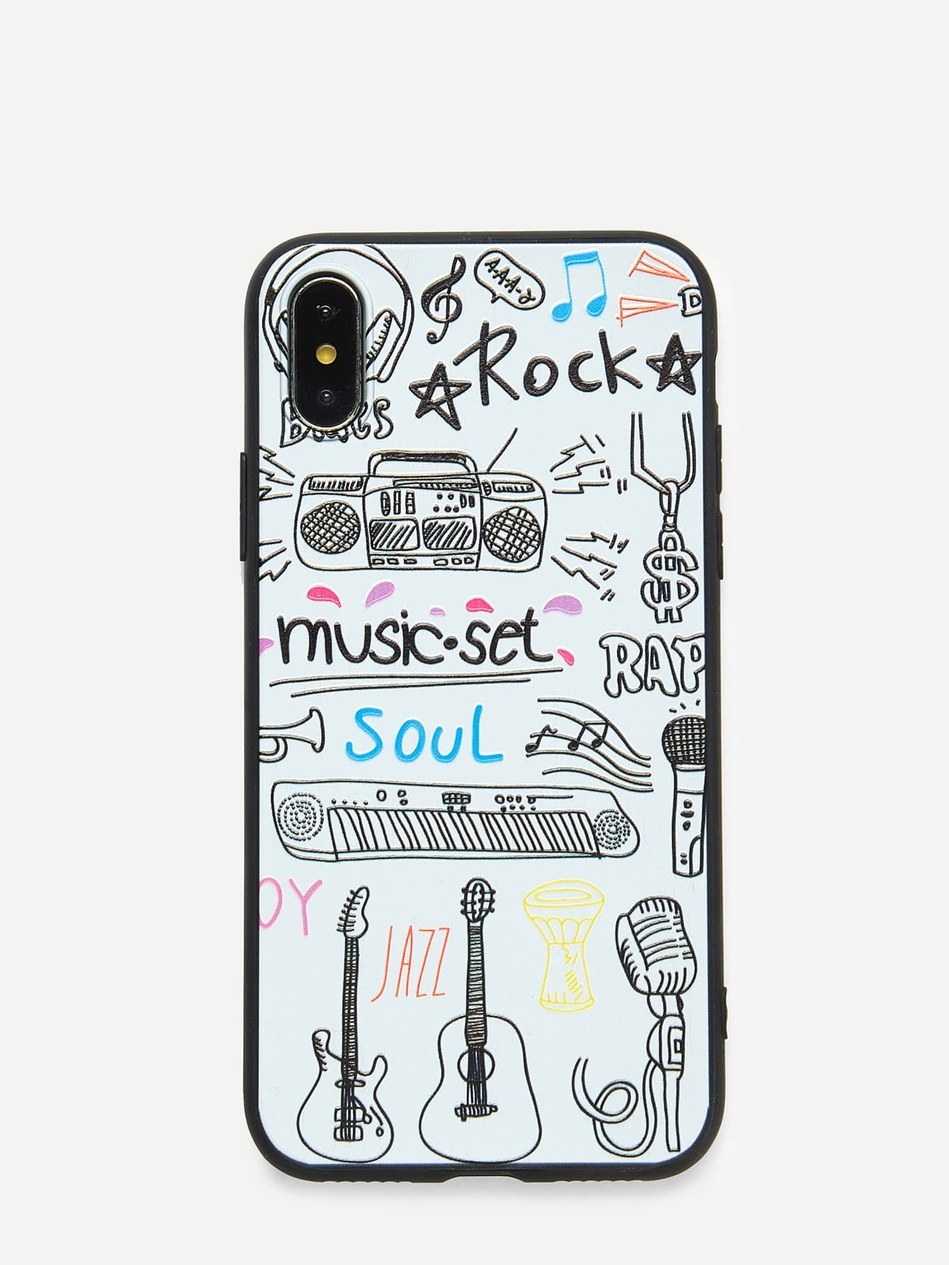 Купить Чехол для IPhone музыка и гитара, null, SheIn