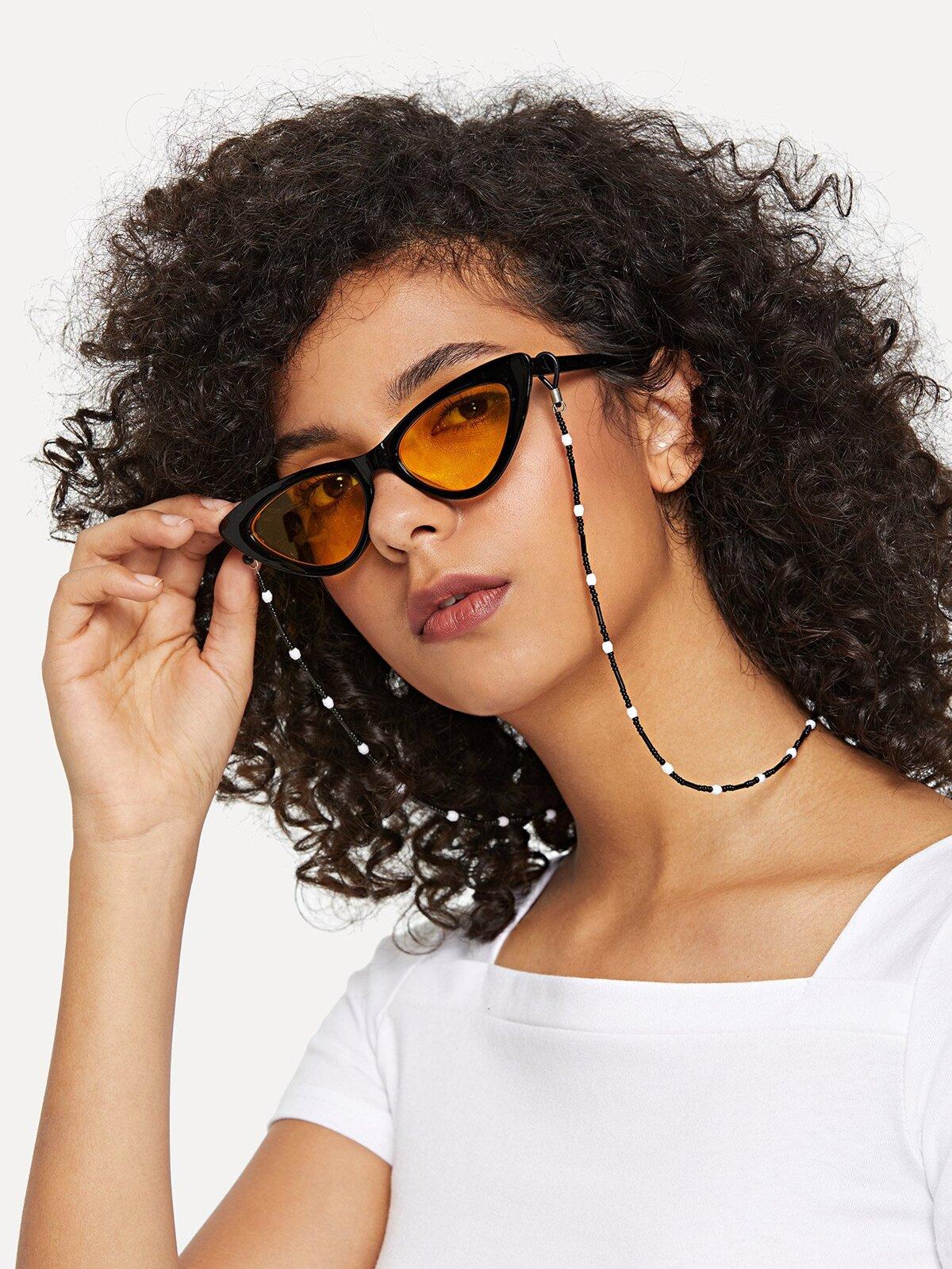 串珠 太陽眼鏡 鏈子