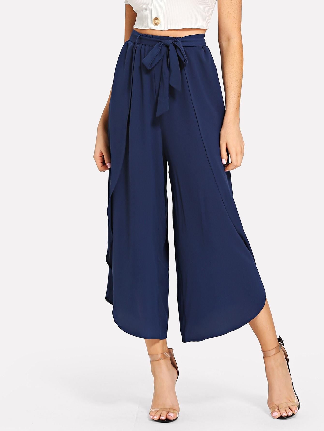 Широкие брюки с оборками, Nathane, SheIn  - купить со скидкой