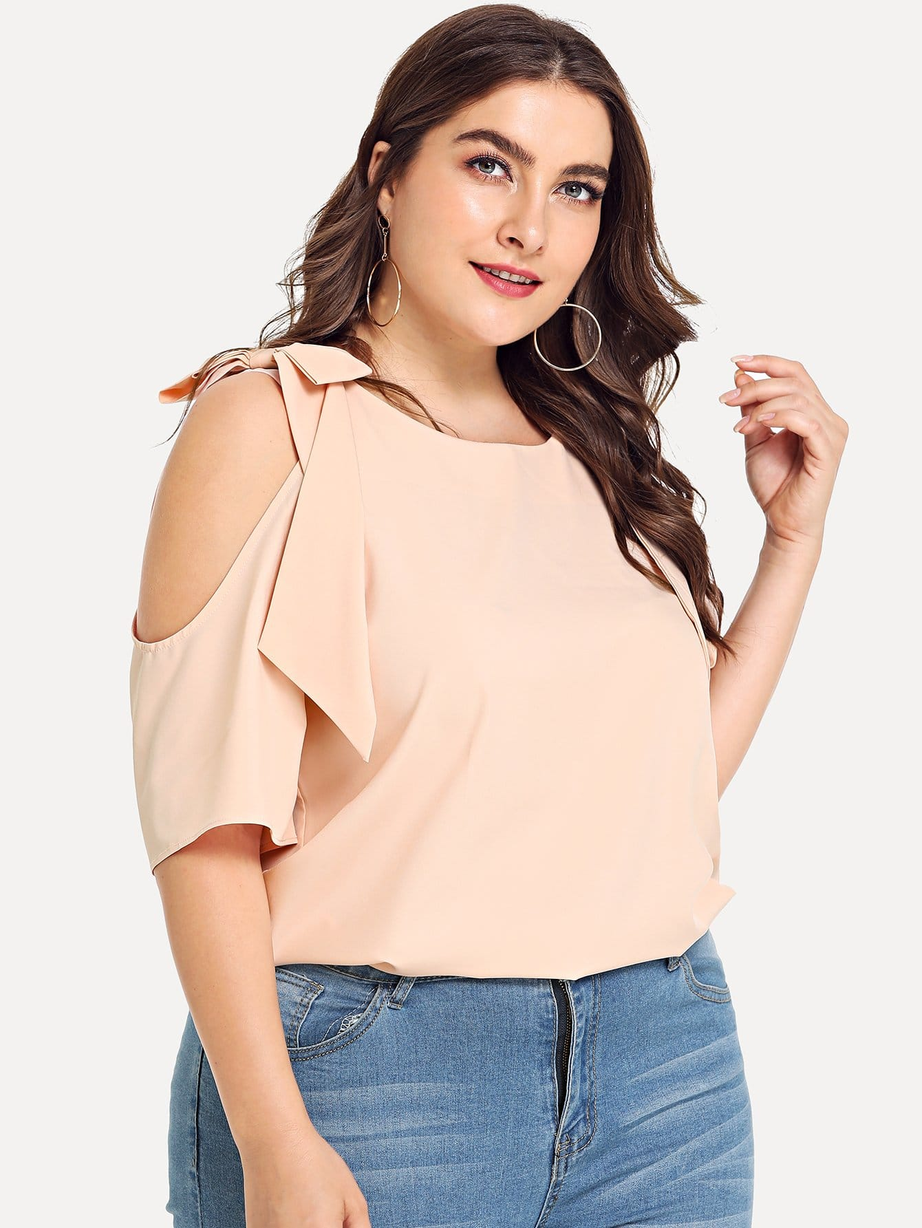Купить Рубашка с вырезом носа, Franziska, SheIn