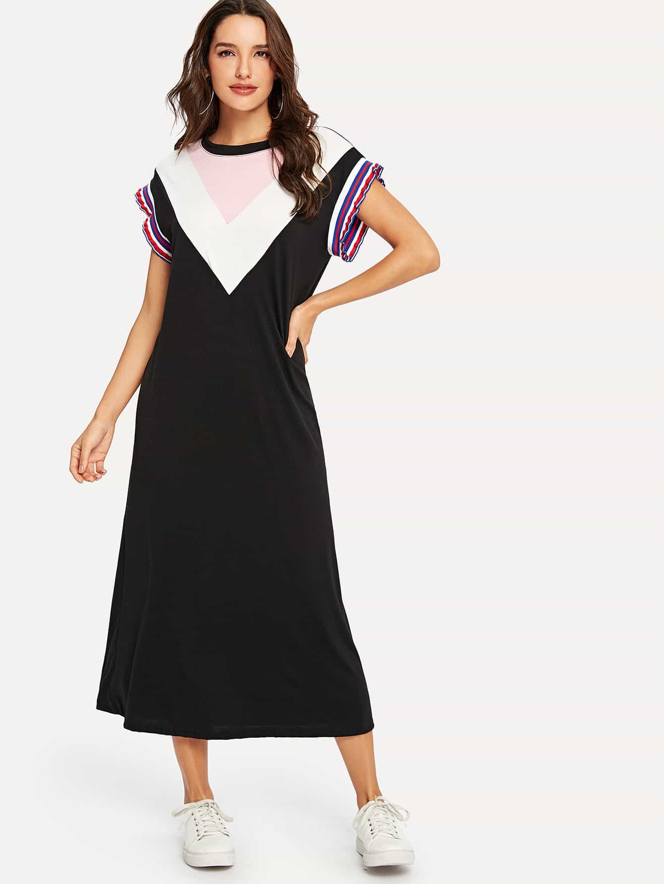 Платье для обложки салата Chevron Colorblock