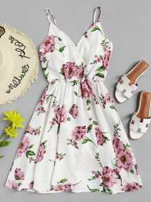 Flowers Print Cami Dress