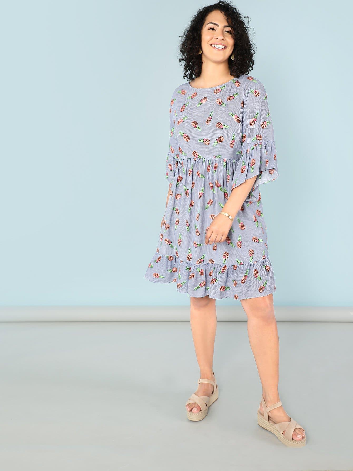 Купить Всеобъемлющее платье из ананаса, Brianna Ruiz, SheIn