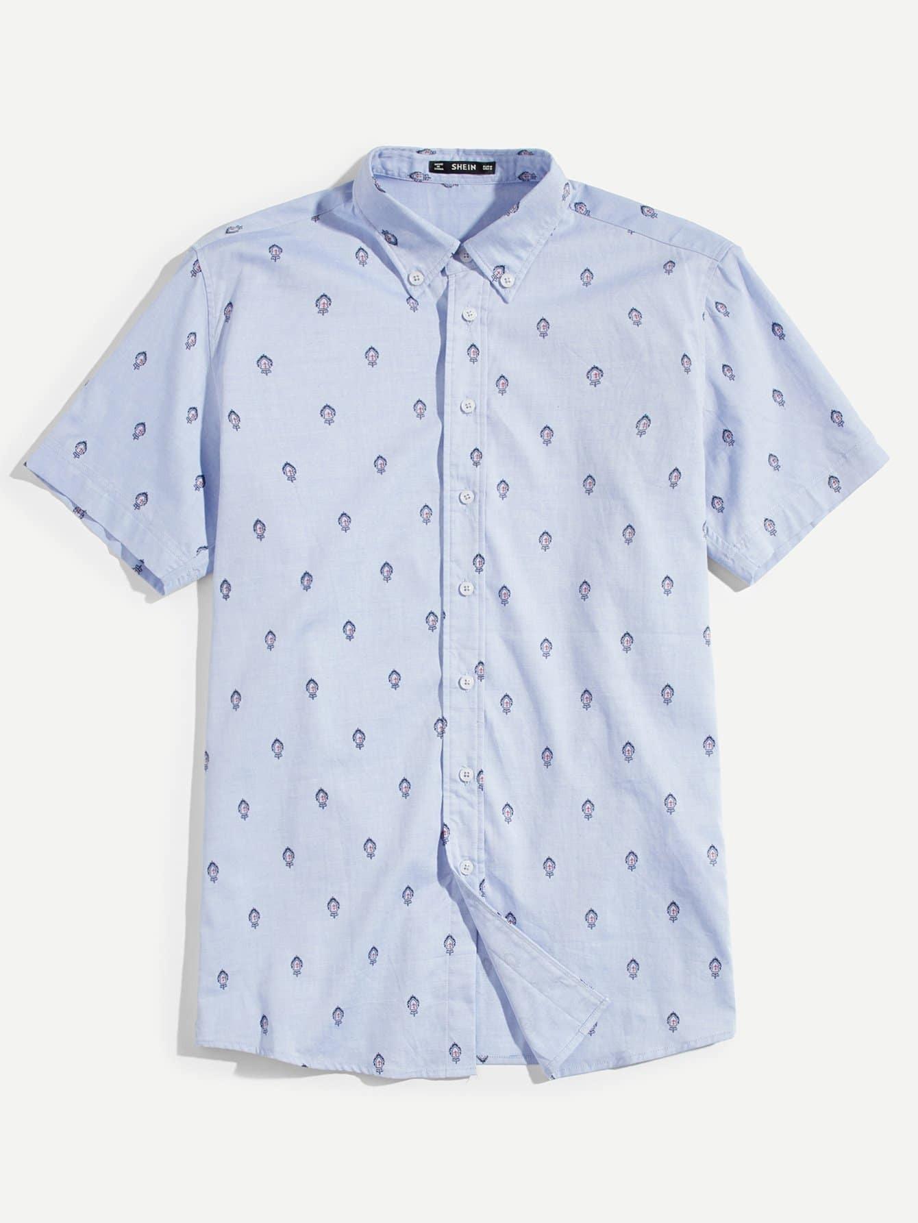 Купить Мужская футболка с графикой, null, SheIn