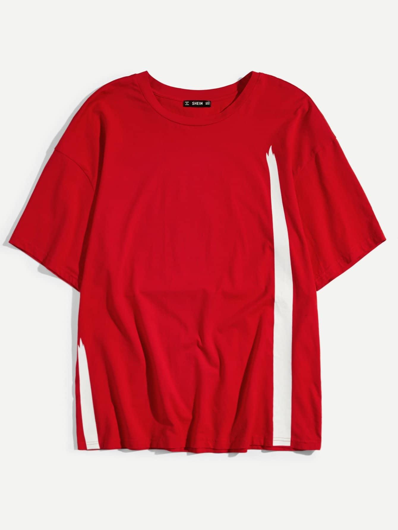 Men Color Block Short Sleeve Tee летние шины michelin 195 65 r16c 104 102r agilis