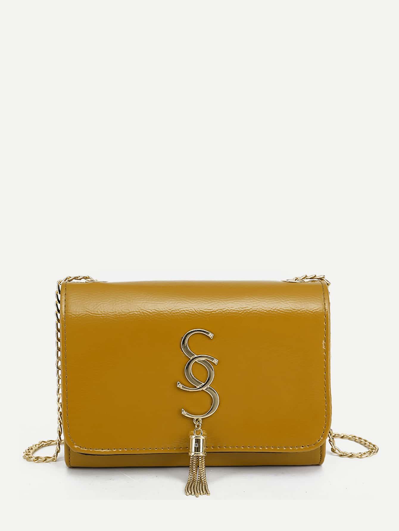 Tassel Detail Chain Bag tassel detail studded chain bag