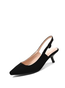 Pointed Toe Slingback Heels