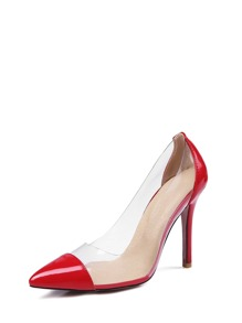 Clear Panel Stiletto Heels