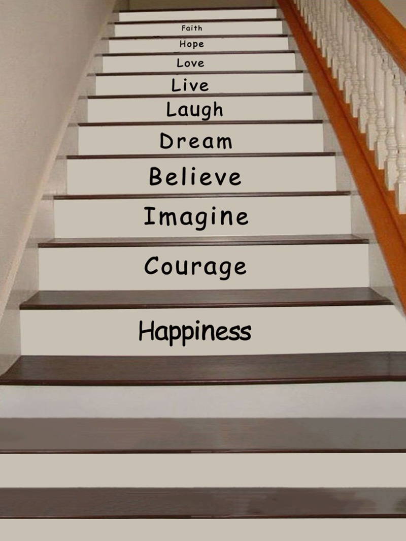 10 Words Decor Floor Stairs Stickers