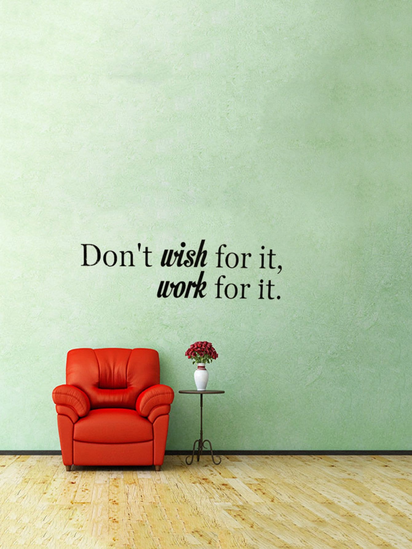 Inspirational Motto Decor Wall Sticker motto wall sticker