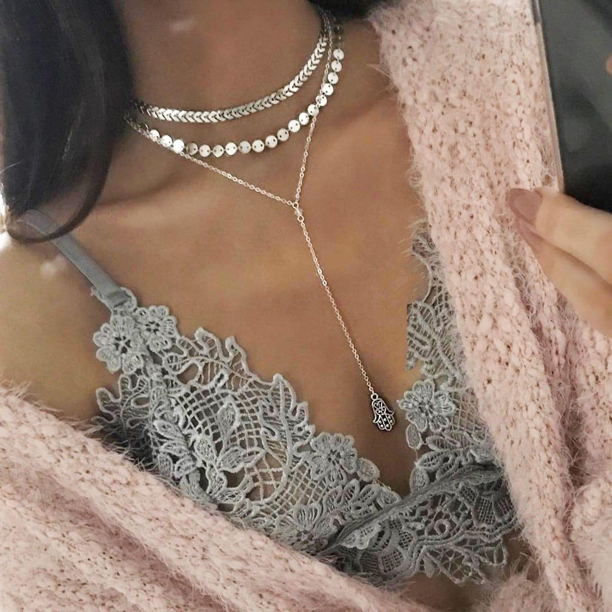 SHEIN / Halsband Set mit Scheibe und Pfeil 2pcs