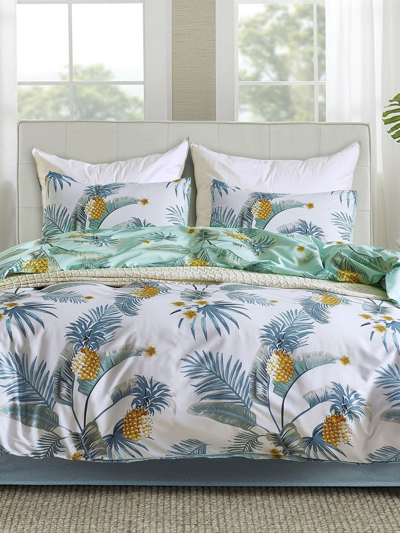 Купить Комплект печатных листов для ананаса и цветов, null, SheIn