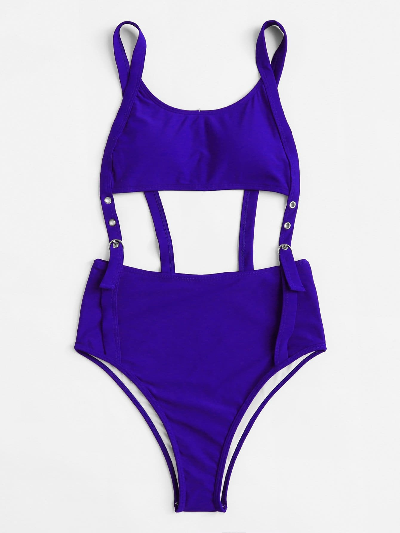Eyelet Buckle Cut-Out Swimsuit