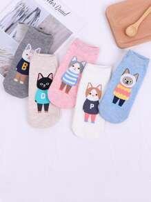 Cartoon Pattern Socks 5pairs