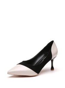 Two Tone Pointed Toe Stiletto Heels