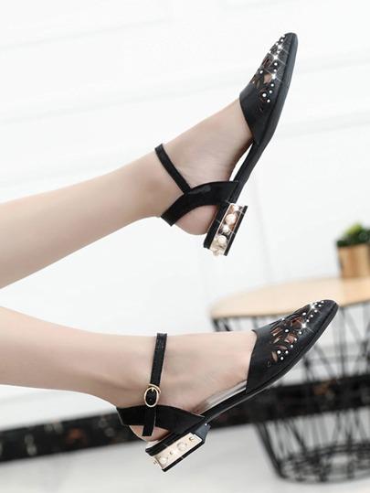 Laser Cut Pointed Toe Ballet Flats